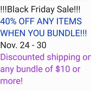 Other - BLACK FRIDAY SALE 11/24-11/30!